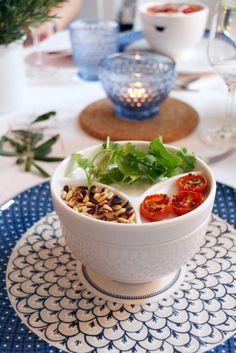 bludinner Villeroy & Boch München - Vorspeise: Tomaten-Aprikosen-Suppe mit Toppings