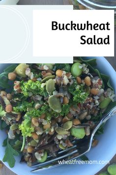 This gluten-free and dairy-free buckwheat salad is super healthy but more important it tastes really good. Buckwheat Salad, Middle Eastern Salads, Gluten Free Vegetarian Recipes, Salad Dressing Recipes, How To Squeeze Lemons, Fresh Mint, Dairy Free, Healthy, No Dairy