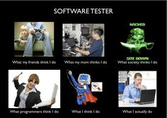 software tester...A nice take on things