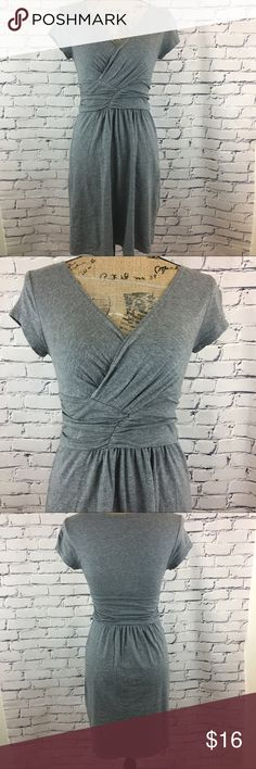 """Loft Cap Sleeve Dress Loft Cap Sleeve Dress - V-neck, slightly gathered at waist.  Pre-owned, good condition.   Size: X-Small Chest: 14.5"""" (pit to pit, flat lay) Waist: 12.5"""" ( flat lay)  Hips: 18"""" Length: 34"""" Material: 60% Cotton, 40% Modal LOFT Dresses"""