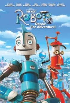 My son wanted this movie when at the store today. We bought it and looking closer at it and watching it I realized that Robin Williams voices the red robot that is seen here. That is not a bad thing.it just makes me sad. Kid Movies, Family Movies, Cartoon Movies, Great Movies, Disney Movies, Movies And Tv Shows, Movie Tv, Robot Cartoon Movie, Cinema Tv