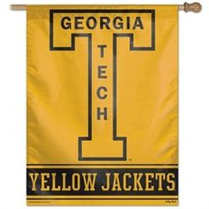Georgia Tech Yellow Jackets Flag - Throwback 27X37 House Flag Banner
