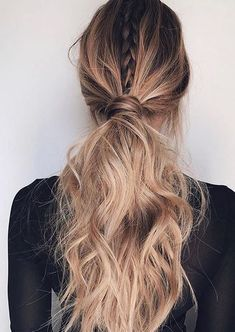 braided ponytail hairstyle idea