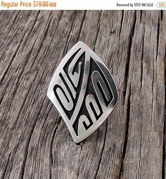 Hopi Silver Overlay Ring Size 6.5, Hopi Silver Ring, Overlay Ring, Women's Overlay Ring, Southwestern Ring, Handcrafted Ring, Made In USA