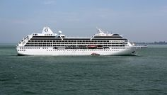Malaysia - Penang Island. Oceania's cruise ship Nautica. It is a R class ship.