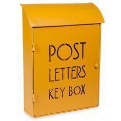 Boîte à clés en métal 21 x 30 cm POST YELLOW