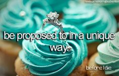 I want my proposal to be unique, spontaneous, different, wonderful. One that makes me lose all ability to speak. One that is so beautiful I cry. One that I'll remember for the rest of my life<3 ✔️✔️✔️