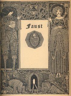 Harry Clarke (1889-1931). Illustration from Goethe's Faust.