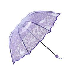 Ladies-Folding-Umbrella-Rain-Clear-Women-Floral-Lace-Princess-Umbrella-Vintage