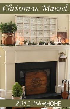 Christmas Mantel / Advent Calendar from Finding Home