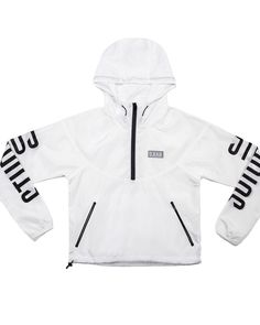 DEAD Studios Sports Cropped Runner Jacket in white.  The Cropped Runner Jacket in white, packed with good looks and great features...   Shop now! Time to get your spring body in shape.