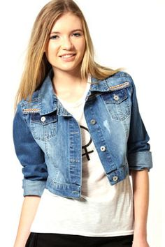 Charlotte Denim Jacket With Embroidered Detail  #denmimdaze and #boohoo