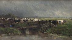 Willem Roelofs - Stortbui nabij Gouda
