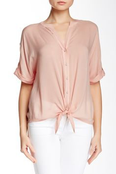 Whitney Tie Front Shirt by Paige Premium Denim on @nordstrom_rack