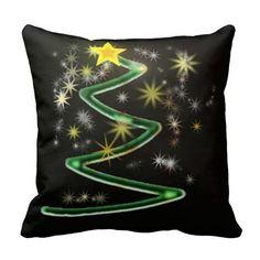 Abstract Christmas tree Pillows