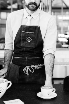 Girl About Town: Handsome Coffee Roasters in Los Angeles Restaurant Uniforms, Cafe Restaurant, Coffee Barista, Coffee Cafe, Cafe Uniform, Coffee Business, Coffee Places, Coffee Photos, Cafe Style