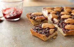 Chocolate Chips and Raspberry Bars