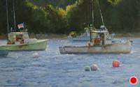 Summer Morning, Bass Harbor by Kathleen Dunphy Oil ~ 12 x 20