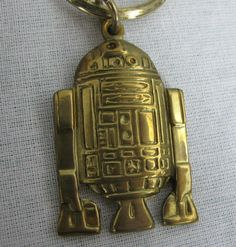 R2-D2 Vintage Star Wars Keychain Metal Solid Brass 1983 Return of the Jedi ROTJ