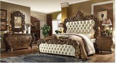 Catherine Victorian French Reproduction Rococo Style California King Bed