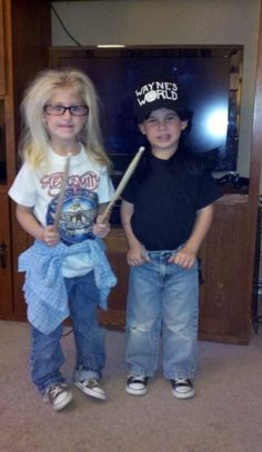 Party on Garth! Party on Wayne!   If these kids came to my door, I would give them all my candy and then die laughing.