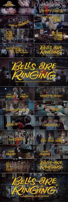 BELLS ARE RINGING (1960) trailer lettering