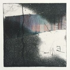 Coyote Atelier printmaking inspiration: etching with spray aquatint and chine collé by Alice Sheridan.
