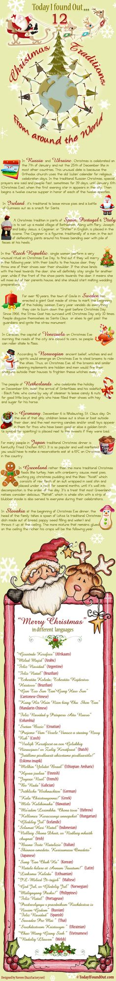 12 Christmas Traditions From Around The World #infographic