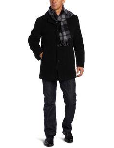 766608bdf7e london fog men s barrington car coat with scarf