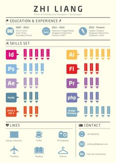 Infographics Resume by Chen Zhi Liang, via Behance