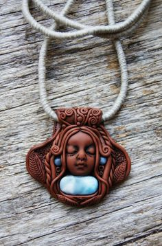 Larimar Healer Necklace, Sea and Sky Energy Goddess. Promoting Relaxation, Courage and Communication.
