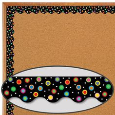 Poppin' Patterns® Dots On Black Wavy Border new boarder for room Preschool Set Up, Preschool Crafts, Crafts For Kids, Sports Theme Classroom, Classroom Board, Classroom Decor, Boarders For Bulletin Boards, Display Boards For School, Boarder Designs