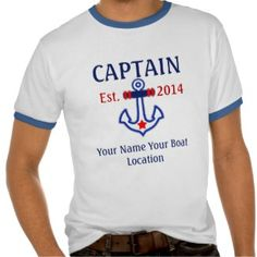 Personalizable Captain, First Mate, or Skipper Tee Shirt