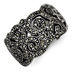 925 Sterling Silver Marcasite Band Ring Fine Jewelry Gifts For Women For Her Gifts For Women, Gifts For Her, Fine Jewelry, Women Jewelry, Marcasite Jewelry, Band Rings, Jewlery, Crystals, Sterling Silver