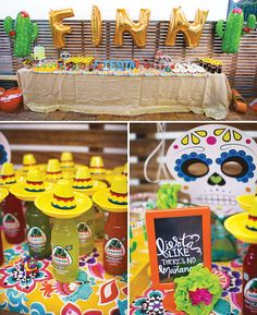 Bright & Festive Fiesta Birthday Party // Hostess with the Mostess® Mexican Birthday Parties, Mexican Fiesta Party, Fiesta Theme Party, Taco Party, Festa Party, First Birthday Parties, Birthday Party Themes, First Birthdays, Mexican Candy Table