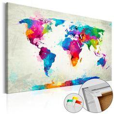 Obraz na korku to produkt dla osób poszukujących oryginalnych ozdób na ścianę. Ekologiczny materiał i ciekawy wzór sprawiają, że zwykła tablica korkowa zmienia się w stylowy dodatek, który możesz wykorzystać w rozmaity sposób. Do obrazów na korku można przypinać pinezki, zaznaczać odwiedzone