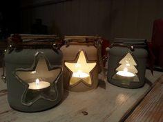 Zelfgemaakte kerstlichtjes