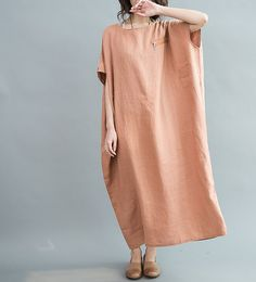 Loose Maxi Dress Women Oversize Dress by MaLieb.