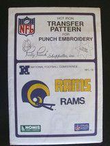 Vintage NFL Rams Football Transfer Pattern Embroidery $7.99  RAM THIS!  (•͡. •͡┌П┐hehehehe
