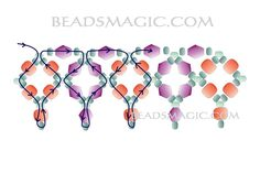 Free pattern for beaded necklace Sky Light | Beads Magic#more-5785