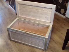 Natural wood toy box, wood work