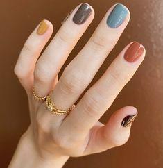 Polygel Nails, Hair And Nails, Acrylic Nails, Manicure, Cute Short Nails, Cute Nails, Vegan Nail Polish, Fall Nail Polish, Autumn Nails