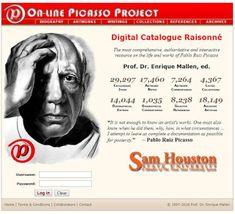 [ ] Ein virtuelles Museum: On-Line Picasso Project Feldkirch, Sam Houston, Museum, Digital, Art, Science, Education, Kunst, Art Background