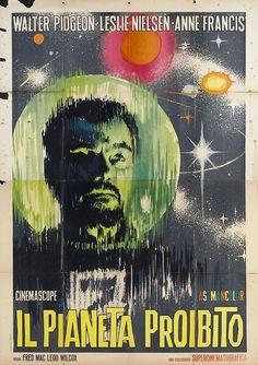 Forbidden Planet (1956). Italian poster.