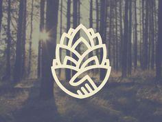 Logo Discover Pinecone trust Pinecone trust by Tyler Pate Logo Branding, Branding Design, Design Web, Graphic Design, Logo Inspiration, Ideal Logo, Trust Logo, Logo Simple, Plant Logos