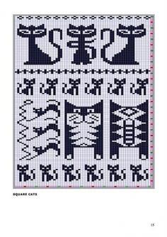 Прикольные кошки для вязания и вышивки / Болталка / Разговоры на любые темы