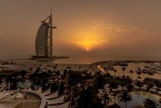 Burj Al Arab - Sunset time - When construction began on the private island upon which Burj Al Arab would be built Dubai was a very different place. In the late 1990s the rapid pace of construction which developed one of the worlds most impressive skylines was just in its very early stages and as such the Burj Al Arab is regarded as one of the first key landmarks of modern Dubai. When opened in 1999 Burj Al Arab was advertised as the worlds first and only 7 star hotel offering a luxury…