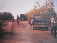 "Tobe Hooper filming ""The Texas Chainsaw Massacre"""