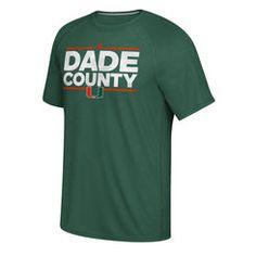 Men s adidas Green Miami Hurricanes Dassler City Ultimate Nickname climalite  T-Shirt U Of Miami ba80675a9