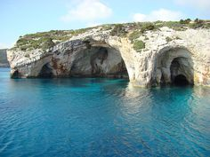 blue caves in greece....so amazing!